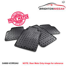 New Genuine Nissan GU Patrol (Y61) Rubber Floor Mats - Rear G4900VCRR2AU RRP $86