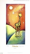 "ABBIE CARR ""Fletcher"" giraffe africa SIGNED LIMITED ED! SIZE:34cm x 19cm NEW"
