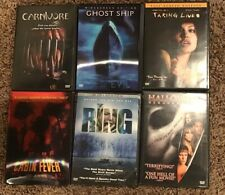 6 Lot DVD Horror Scary Movies Films The Ring Halloween Ghodt Ship Cabin Fever