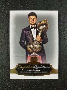 🔥🔥📈 Carey Price 2016-17 The Cup Signature Renditions Auto GOLD INK