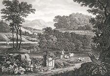 Eau Forte XIXème - Paysage - Vander-Neer - La Combe - Pillement