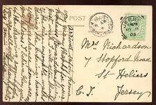 Islas del Canal Jersey St John's Iglesia Único Anillo PMK en 1905 Local PPC