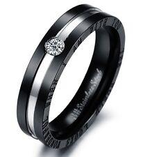 Luxus Edelstahl-Ring m.Strass/Zirkonia Herrenring Edelstahlring Geschenk 4 Größe