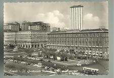 vecchia cartolina di napoli  il grattacielo da piazza municipio