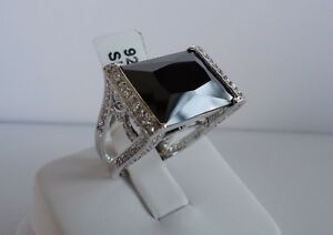 925 STERLING SILVER LADIES RING /18K WHT GOLD PLATED /SIZE 5 - 9/ 17 CT DIAMONDS