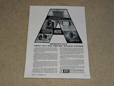 Altec A-7 Voice of the Theater, 605a, 838a, 831a Speaker Ad, 1961, 1 page