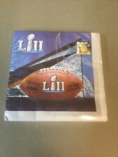 Super Bowl 52 Napkins - 16 Pack Regular Size **Brand New**