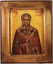 Greek Orthodox Icon of St. Achillios (Achillas or Achilles) Bishop of Alexandria