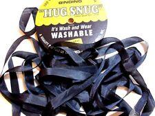 Dark Slate Gray Seam Binding x 100 Yards, Rayon, Hug Snug, DTM Gray Ribbon