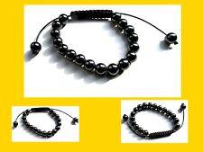 Shamballa Uni-Sex Hematite Bracelet