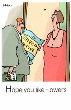 Funny Happy Anniversary Gardener Growing Flowers Manure & Seeds Greeting Card