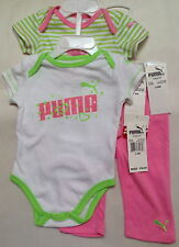 NWT PUMA GIRLS' LAYETTE MULTI COLOR 3 PIECE SET SIZE 3-6M $38