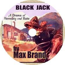 Black Jack, Max Brand Western Audiobook English Fiction on 1 MP3 CD Free Ship
