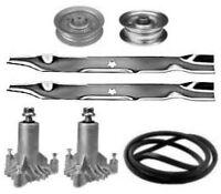 """Sears Craftsman DYT4000 42"""" Mower Deck Rebuild Kit Spindles Blades Belt Idlers"""