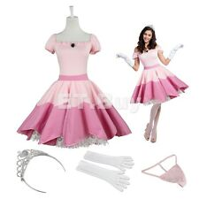 Sexy Princess Peach Costume Adult Halloween Cosplay Fancy Dress Costume One Size