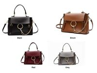 Womens Crossbody Shoulder Designer Handbag Ring Chain Small Bag REAL LEATHER NEW