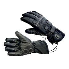 Gants d'hiver chauffants noirs pour motocyclette