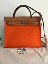 Authentic Hermes Kelly Herbag Zip 31 Orange