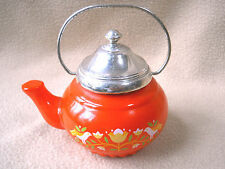 Vintage heavy glass Avon tea pot kettle with Lemon Velvet foaming Bath Oil /FULL