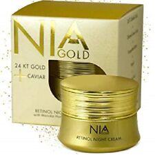 Nib Nia Gold 24 Karat Gold + Caviar Retinol Night Cream Manuka Honey Propolis