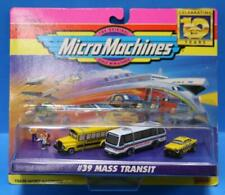 VINTAGE MICRO MACHINES MINT ON GOOD CARD # 39 MASS TRANSIT
