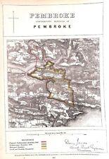 Pembroke.Wales.1868.Boundary Commissioners report.Map.Antique.Plan