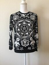 G.loli Unisex Medium Black Goth Skull Pentagram FreeMason Sweatshirt Cult Gothic