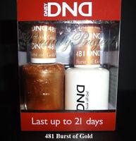 DND Daisy Burst of Gold 481 Soak Off DND Gel Polish .5oz LED/UV gel duo DND 481
