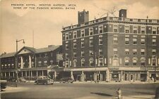 1940s Print Postcard Premier Hotel Benton Harbor MI Home of Mineral Baths Unused