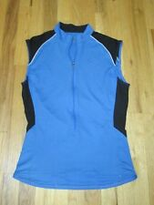 Cannondale Blue 3/4 Zip Cycling Sleeveless Jersey Shirt Unisex Men Women Med API