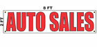 AUTO SALES Banner Sign 2x8 for Used Car Lot