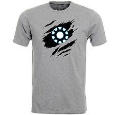 Iron Man Arc Reactor Earth 616 Logo Marvel Comics Hero Mens Tshirt Tee Top AB65
