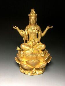 Japanese Japan, resin Buddha statue Avalokitesvar, youe kannon, Bodhisattva 18cm