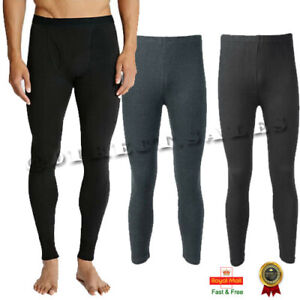 Mens Thermal Long Johns Top Bottom Cotton Underwear Warm Base layer Trousers