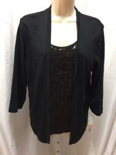 rafaella 2 piece look sequins knit top, nwt, msrp $ 58 -----#b336