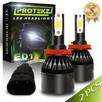 LED Headlight Kit 880 6000K White Fog Light Bulbs for PONTIAC Solstice 2006-2009