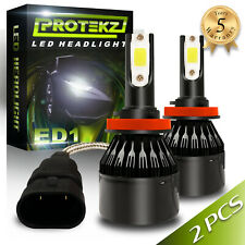 H11 H8 H9 LED Headlight Kit Cooling Fan Protekz Waterproof 800W 120000LM 6500K