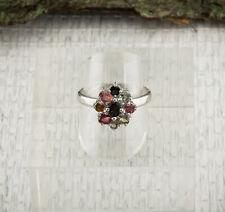 Turmalin Ring Sterlingsilber/925 Facettiert Multicolor Bunt Grösse 63(20,0 mm Ø)