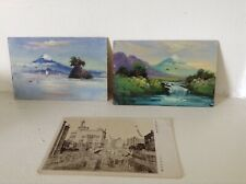 Vtg Japan Postcards Ww2 hand painted Misawa Japan Remember Me Arly Baird