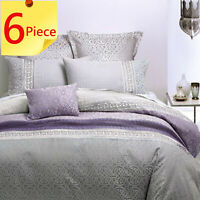 Inverness Mauve by Linen House Duvet Doona Quilt Cover Set | Bed Pack | Queen