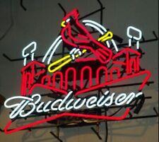 """New St Louis Cardinals Budweiser Stadium Beer Bar Light Lamp Neon Sign 24""""x20"""""""