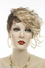 Short Chic Glamorous Arty Asymmetrical Pixie Wavy Blonde Brunette Red Wigs