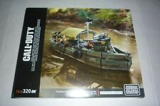 MEGA BLOCKS CALL OF DUTY RIVER BOAT RAID BRAND NEW SEALED 2016 COLLECTOR SERIE