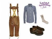 Zünftige Kinder Kombi! UVP 116,60! Lederhose,Trachtenhemd,Haferlschuhe,Socken!