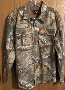 Men's Duck Commander Realtree Camo Button-up Long Sleeve Shirt Size: Small