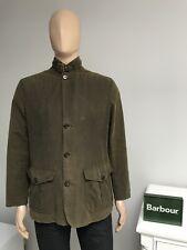 Barbour LUTZ Waxed Wax Cotton Smart Blazer Jacket Olive Green Mens Size Medium M