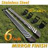 "For 17-20 Ford F250 Superduty Super Cab 6"" Side Step Running Board Nerf Bar V SS"