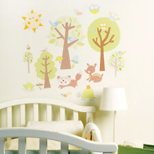 Wallies Animal Tales Decals - Kids Bedroom Nursery Playroom Wall Sticker Decor