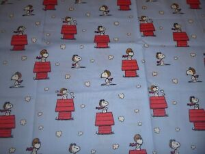Snoopy The Red Baron Cotton Fabric a standard handcrafted pillowcase