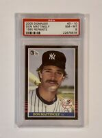 2005 Donruss Don Mattingly 1985 Reprints #D-10 PSA 8 POP 1 #'d 1485/1985 Rare NY